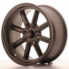 japan racing wheels jr 19 matt bronze 17x8 zoll japan