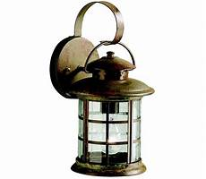 kichler 9761rst rustic 1 light bronze outdoor wall lighting