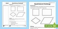 quadrilateral challenge worksheet worksheet amazing fact of the day