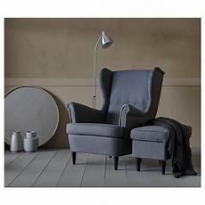 strandmon fauteuil 224 oreilles nordvalla gris fonc 233 ikea
