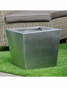 pot de fleur inox pot de fleurs en inox pot cubo en inox 304 aspect poli