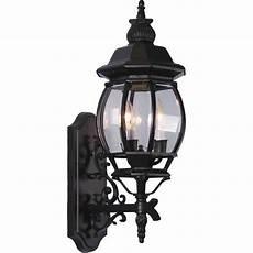 v8760 5 3 light black outdoor wall sconce volume lighting