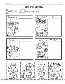 seasons worksheet for kindergarten 14884 seasonal scenery the mailbox ingles para preescolar actividades en clase cosas de ingles