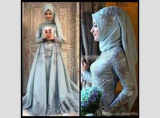 Turkish Traditional Prom Dresses Long With Hijab 2017 Lace