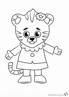 margaret tiger from daniel tiger coloring pages free printable coloring pages