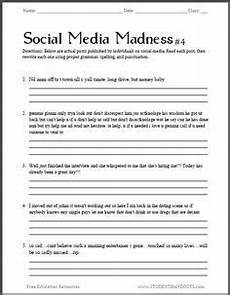 high school level worksheets 18699 social media madness worksheet 4 fourth free printable worksheet in this series sure to exc