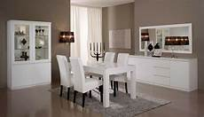 salle a manger laque blanc salle a manger complete roma laqu 233 blanc laque blanc