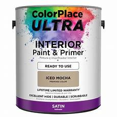 colorplace ultra interior paint primer in one iced mocha 1 gallon walmart com