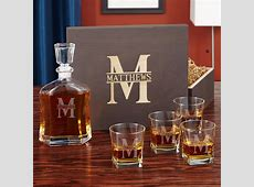 Oakmont Custom Decanter and Whiskey Glass Set