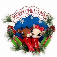 rudolph and friends merry christmas wreath walmart com