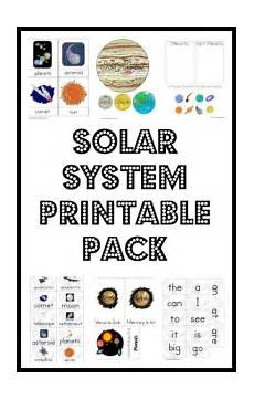solar system printable pack solar system activities solar system projects solar system