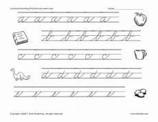 cursive handwriting worksheets 5th grade 22014 cursive handwriting practice worksheet for 2nd 5th grade lesson planet