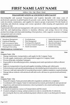 resume sles for logistics management specialist logistics specialist resume sle template