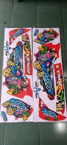 Variasi Motor Scoopy 2018 by Jual Striping Sticker Variasi New Scoopy 2018 Minion