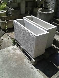 Blumentrog Pflanzkasten Beton Rechteckig Grau Sandstein