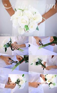 diy white rose and calla bouquet save money and make