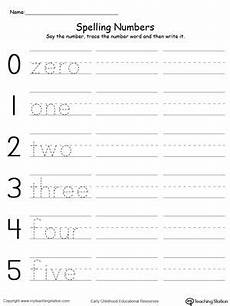 spelling names worksheets 22490 tracing and writing number words 0 5 writing numbers number words number words worksheets