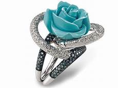 blue rose wedding ring unique wedding rings
