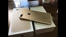 iphone 7 plus gold 128gb unboxing