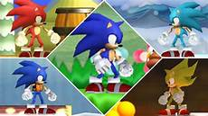 new super mario bros wii all sonic forms youtube