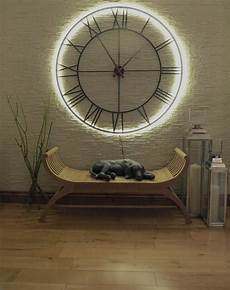 skeleton wall clock with led backlight 114cms in clocks