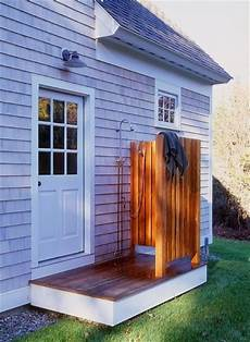 simple outdoor shower can be installed simply for less