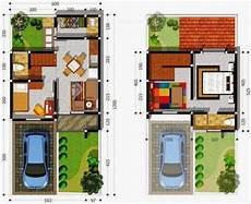 14 Contoh Gambar Denah Rumah Minimalis 2 Lantai 3d Ukuran