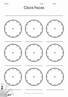 blank clock faces by leannegwilliam teaching resources tes