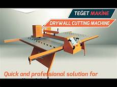 gypsum board cutting machine 2 youtube