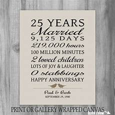 25 Year Wedding Anniversary Gifts For