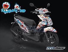 Stiker Motor Beat Keren by Jual Striping Beat Fi Putih Doraemon Putih Kombinasi