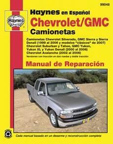 hayes car manuals 2005 gmc yukon xl 1500 head up display spanish language chevrolet y gmc camionetas haynes manual de reparaci 243 n chevrolet silverado gmc
