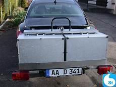 koffer für anhängerkupplung fahrradtr 228 ger lastentr 228 ger mit 2 alu staukoffer