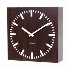 wall clock karlsson square wood sided wall