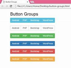create horizontal menu button groups using bootstrap in