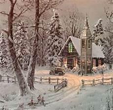 verschneite winterliche und weihnachtliche landshaften