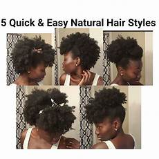 5 quick easy natural hair styles short medium length in