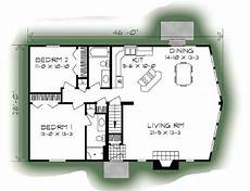 ponderosa ranch house floor plan ponderosa b 1246 square foot ranch floor plan