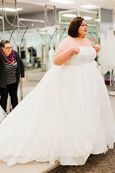 plus size wedding dress shopping with david s bridal