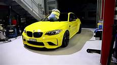 my bmw m2 f87 wrapped yellow youtube