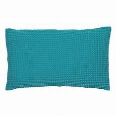 coussin deco bleu turquoise