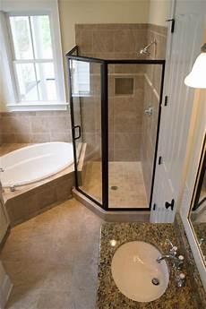 baignoire en coin avec ez niches usa recess bathroom shower shoo wall niche