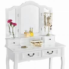 schminktisch mit spiegel und hocker artlife schminktisch emma wei 223 mit spiegel und hocker aus