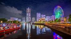 Yokohama Japan Skyline Time Lapse Stock Footage