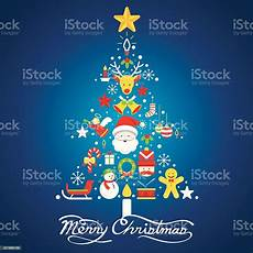 merry christmas icons in christmas tree shape stock illustration download image now istock