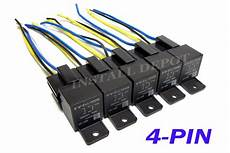 5 Pair 12v Automotive Relays Wire Harness 4 Pin Single