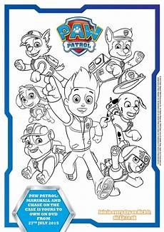 Paw Patrol Malvorlagen Pdf Paw Patrol Colouring Pages And Activity Sheets In The