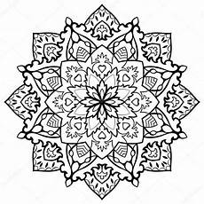 orientalisches filigranes mandala vektorgrafik