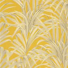 Papier Peint Domitille 100 Intiss 233 Motif Tropical Jaune