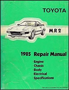 auto manual repair 1985 toyota mr2 free book repair manuals 1985 toyota mr2 repair shop manual original
